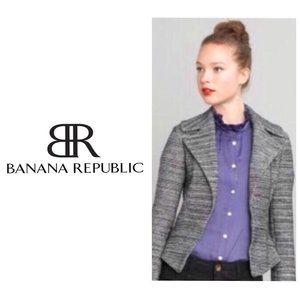 BANANA REPUBLIC Wool/Cotton Tweed Blazer